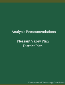 Analysis Recommendations – Pleasant Valley Plan District Plan