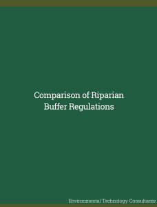 Comparison of Riparian Buffer Regulations